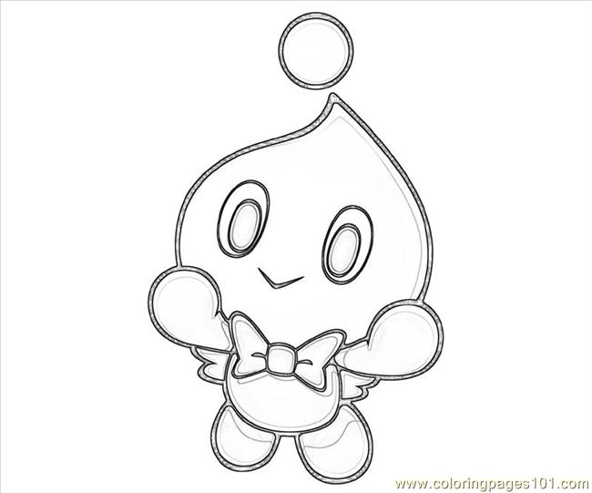 blank chao coloring pages - photo#3