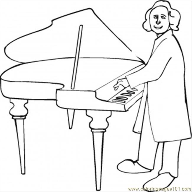 Christoph Willibald Gluck Coloring Page