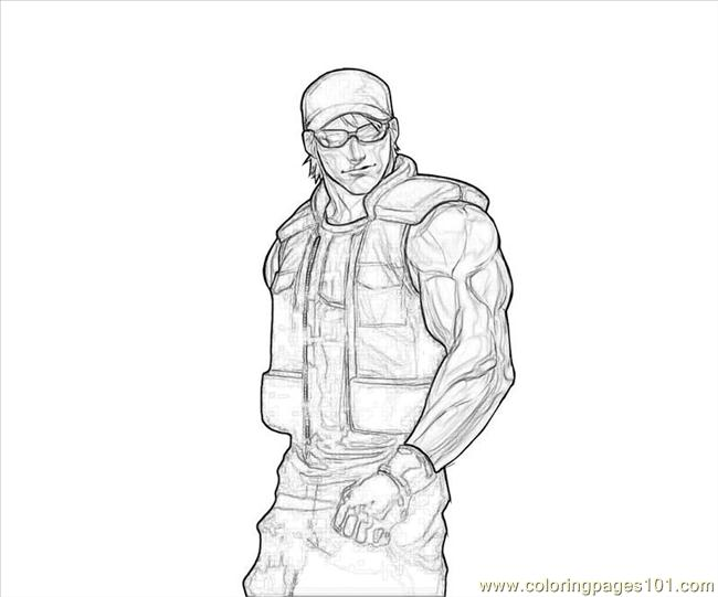 Clark Steel Handsome Coloring Page