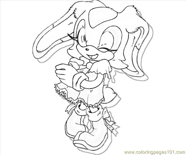 Cream The Rabbit Cute Coloring Page