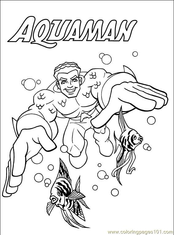 Dc comics 001 4 coloring page
