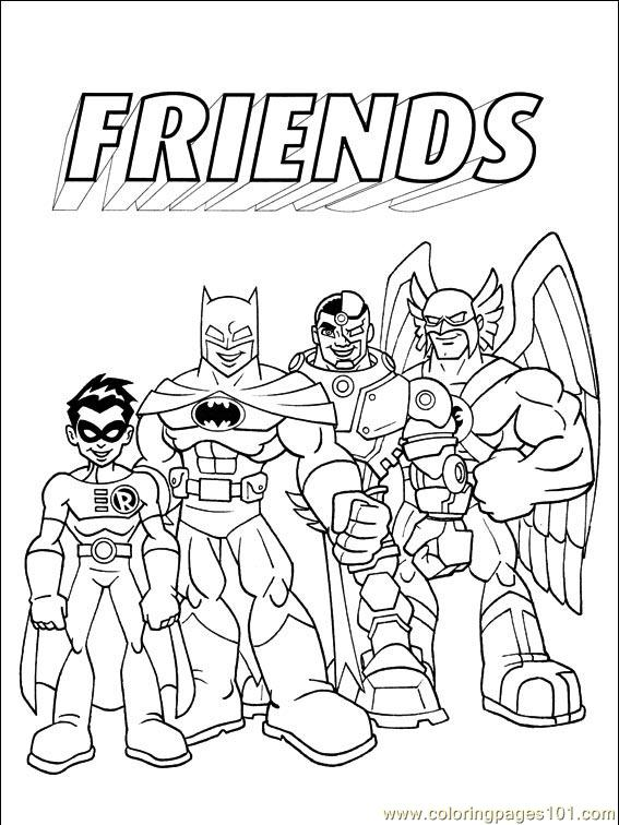 dc little people coloring pages - photo#36