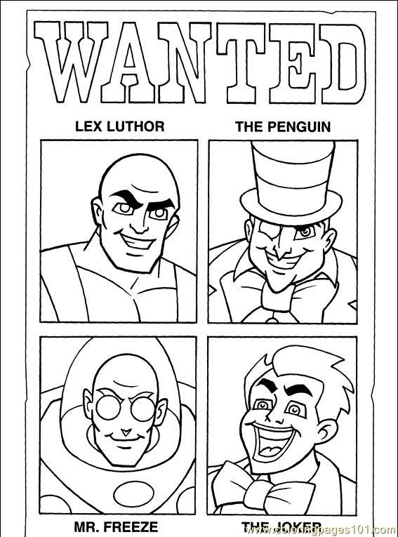 comic book character coloring pages - photo#23