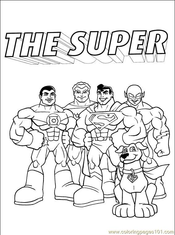 dc nation coloring pages - photo#5