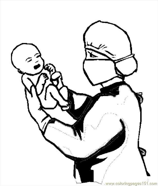 Doctor Baby 2 Coloring Page