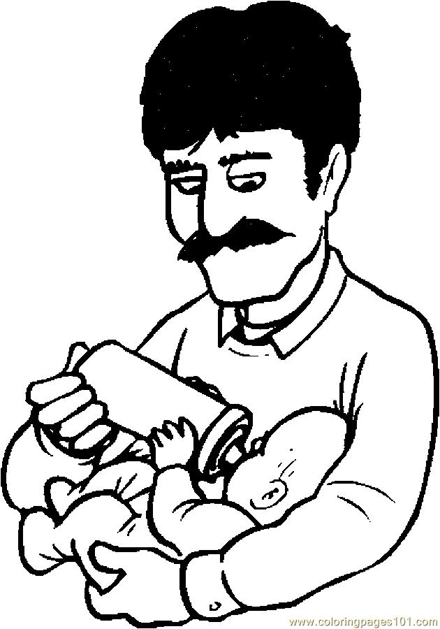 coloring pages of a dad - photo#48