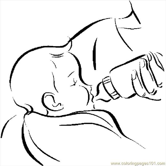 Feeding Baby 2 Coloring Page - Free Others Coloring Pages ...