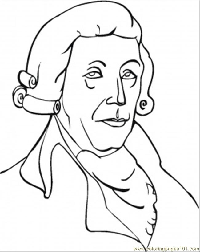 Joseph Haydn Coloring Page
