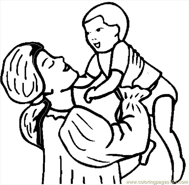 Mother amp Infant 24 Coloring Page