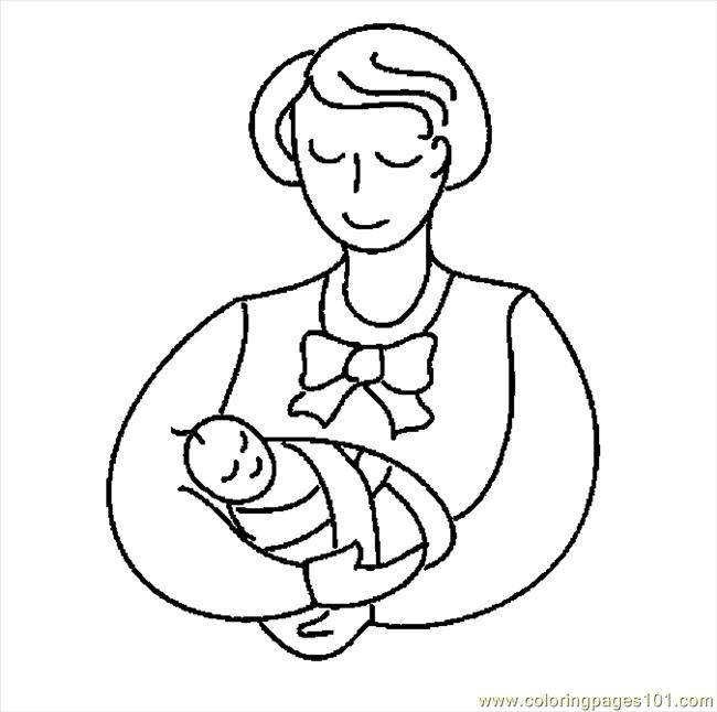 Mother  Infant 25 Coloring Page  Free Others Coloring Pages