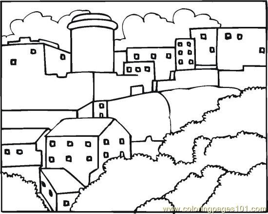 Neighborhood 6 Coloring Page Free Others Coloring
