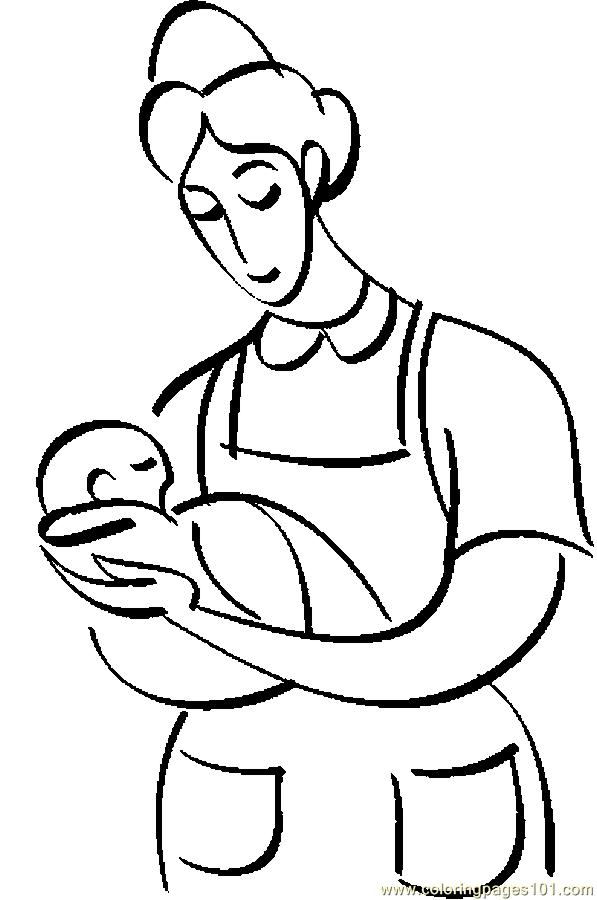 Nurse Infant 2 Coloring Page Free Others Coloring
