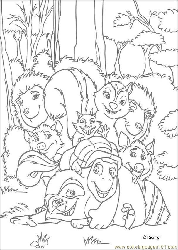 Overthehedge (3) Coloring Page