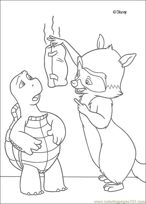 Overthehedge (5) Coloring Page