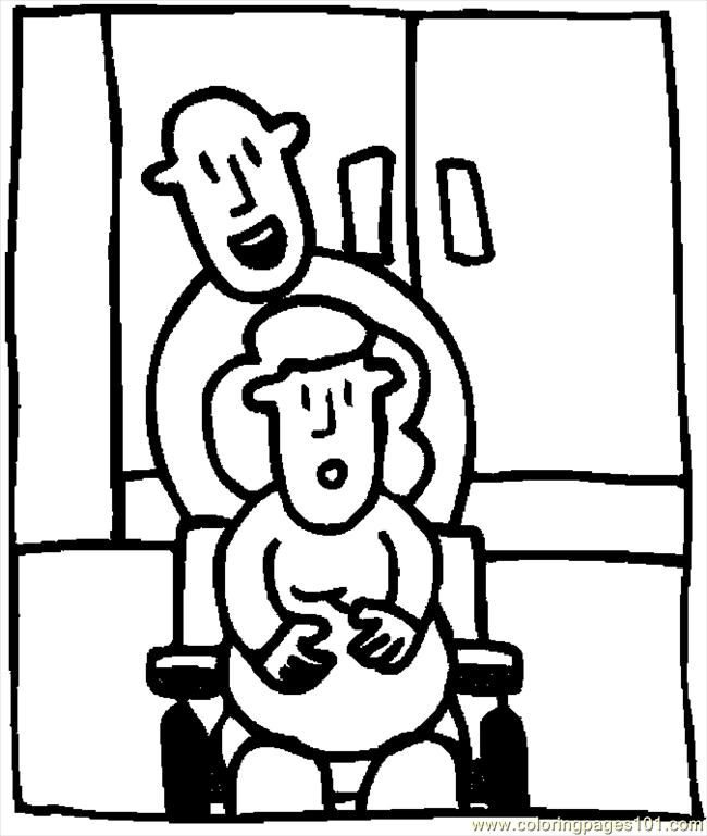 Pregnant Woman In Labor 1 Coloring Page - Free Others Coloring Pages ...