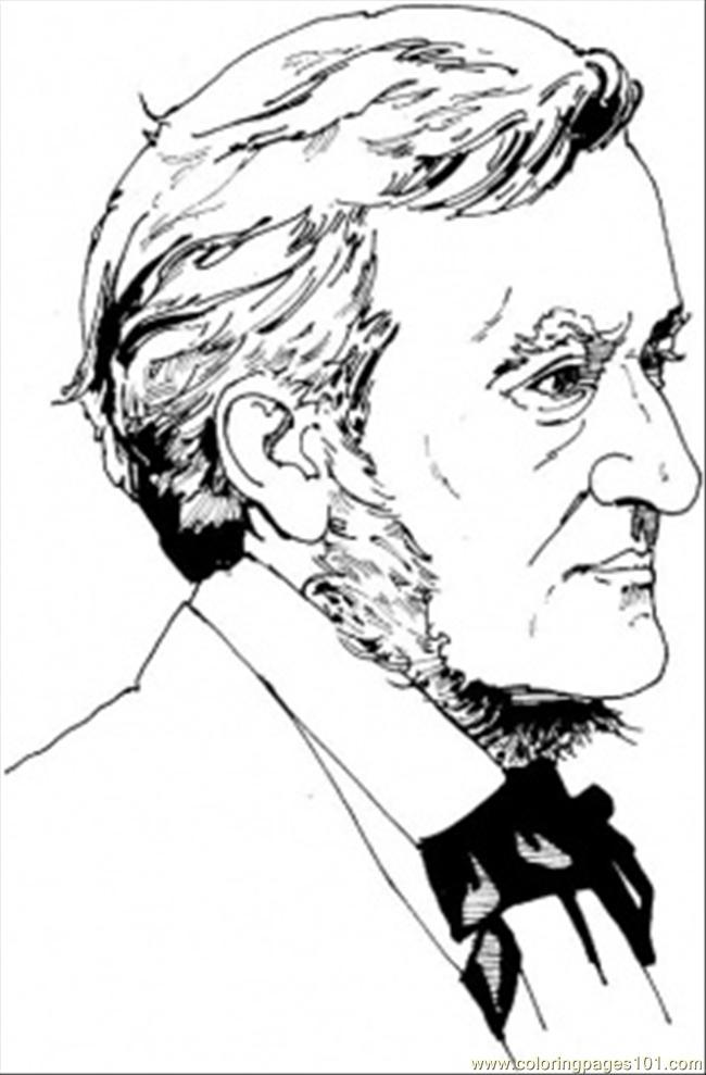 Richard Wagner Coloring Page