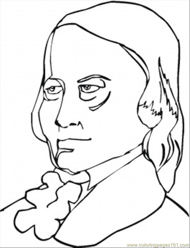 Robert Schumann Coloring Page