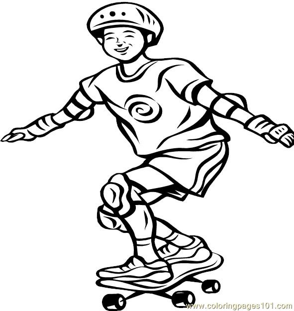 Skateboard 2 Coloring Pages 7 Com Coloring Page Free