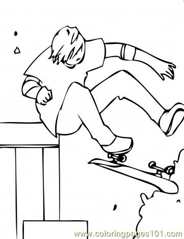 Skateboarding 5 Coloring Pages 7 Com Coloring Page
