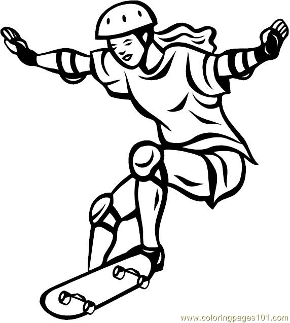 Skateboarding Coloring Pages 7 Com Page
