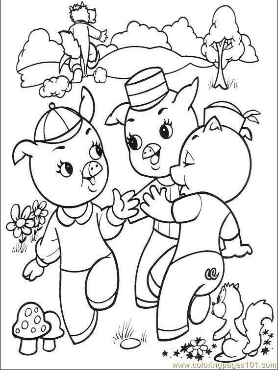 The Three Little Pigs 001 4 Coloring Page