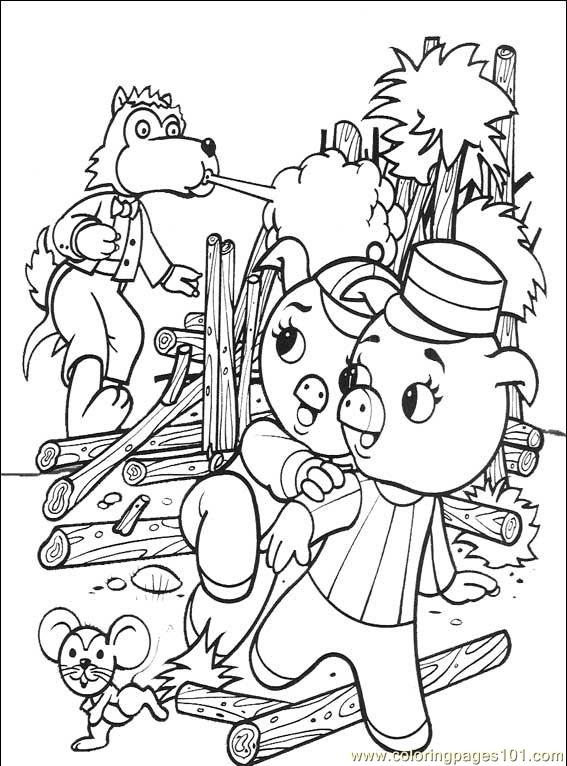 The Three Little Pigs 001 (6) Coloring Page