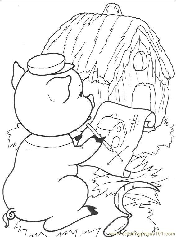 The Three Little Pigs 008 (2) Coloring Page