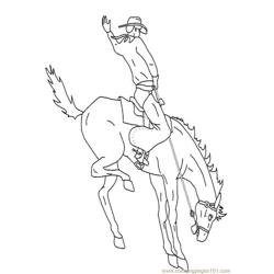 Cowboy Free Coloring Page for Kids