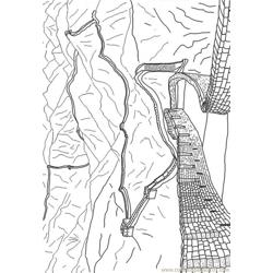 Great Wall Of China Free Coloring Page for Kids