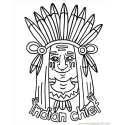 Indian Free Coloring Page for Kids
