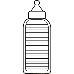 Baby Bottle 2 Free Coloring Page for Kids