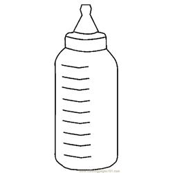 Baby Bottle 6 Free Coloring Page for Kids