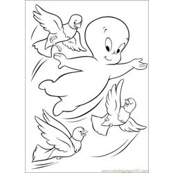 Canper n Birds Free Coloring Page for Kids