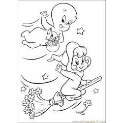 Casper Flying with Friends coloring page