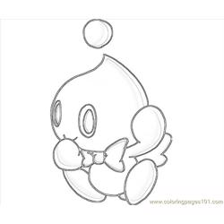 Cheese The Chao Cartoon Free Coloring Page for Kids