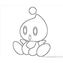 Cheese The Chao Character Free Coloring Page for Kids