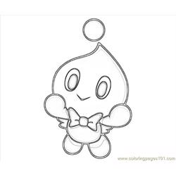 Cheese The Chao Fly Free Coloring Page for Kids
