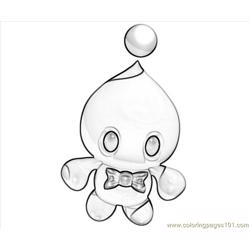 Cheese The Chao Funny Free Coloring Page for Kids