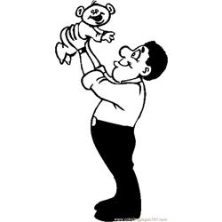 Father & Infant 2 coloring page