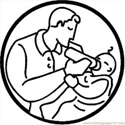 Father Feeding Baby 3 coloring page