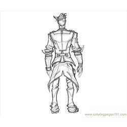 Handsome Jack Back Free Coloring Page for Kids