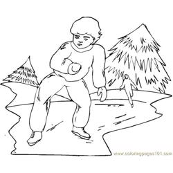 Ice Skating 2 Coloring Pages 7 Com