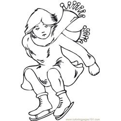 Ice Skating 3 Coloring Pages 7 Com
