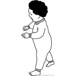 Infant Walking coloring page