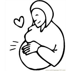 Pregnant Woman 7 coloring page