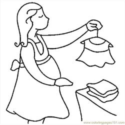 Pregnant Woman Shopping Free Coloring Page for Kids