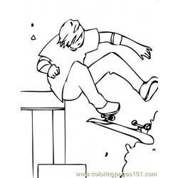 Skateboarding 5 Coloring Pages 7 Com