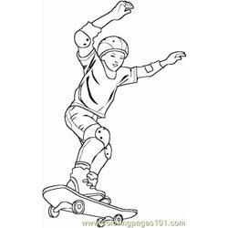 Skateboarding Boy 5 Coloring Pages 7 Com