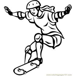 Skateboarding Coloring Pages 7 Com
