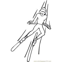 Skiing 2 Coloring Pages 7 Com